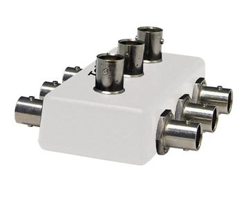 G.hn Certification Test Equipment. Telebyte Model GHN-SP-SPLCOMB-3 symmetrical power splitter used with Telebyte Model GHN-SP-UPLC.